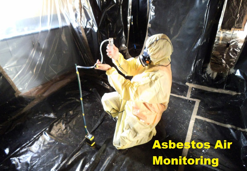 Testing for dangerous asbestos fibres.